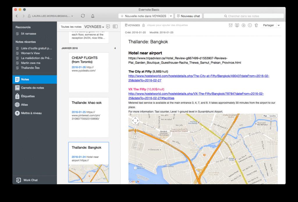 Logiciel travailleur autonome : Evernote est parfait pour la prise de notes en vue d'une utilisation hors ligne