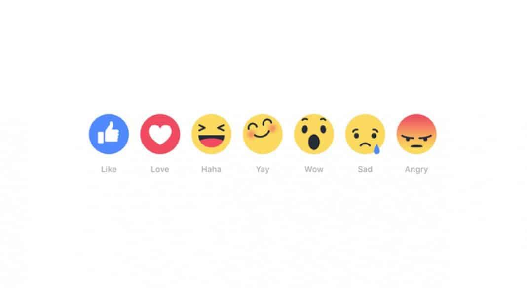 Bouton réactions Facebook