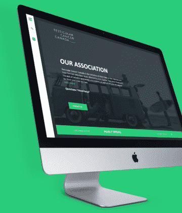Jean-Philippe Dubois, design web Cancer Testiculaire
