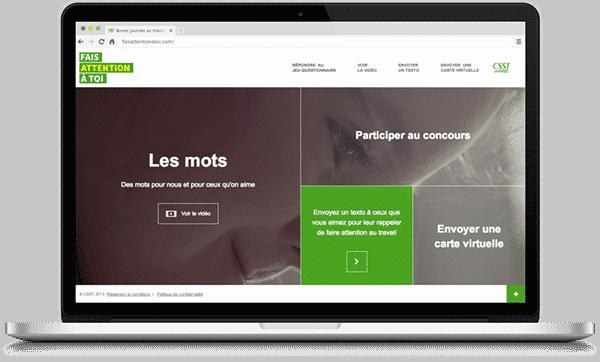Jean-Philippe Dubois, design web, CSST
