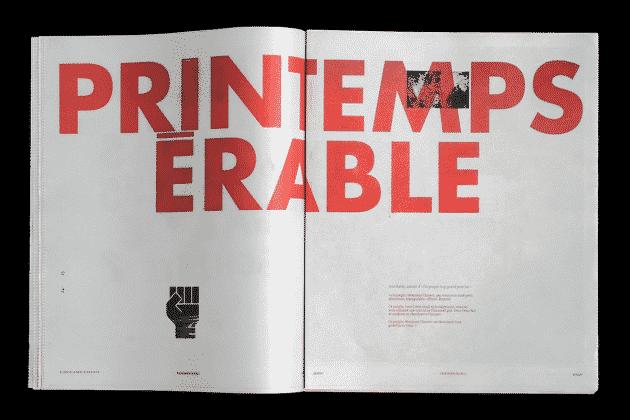 Shayne Tupper, design graphique Urbania spécial Rouge au carré