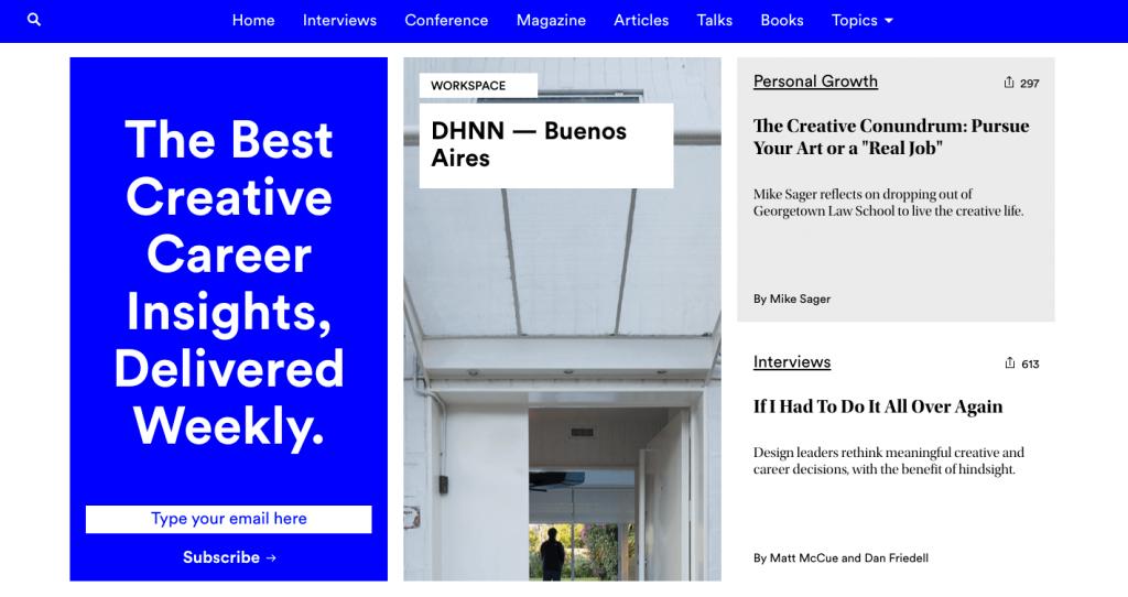99U est le magazine web de la plateforme Behance : ça ne peut être que du bonbon.