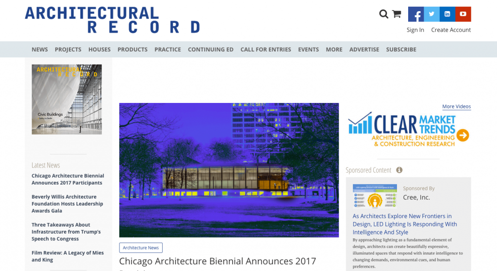 Magazine en ligne portant sur l'architecture et le design d'intérieur.