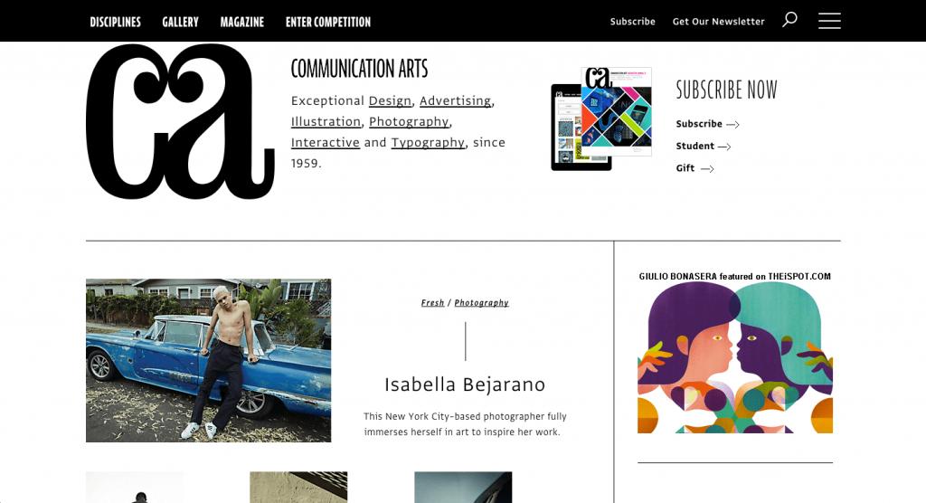 Le magazine papier et web Communication Arts est la référence en design depuis plusieurs décennies.