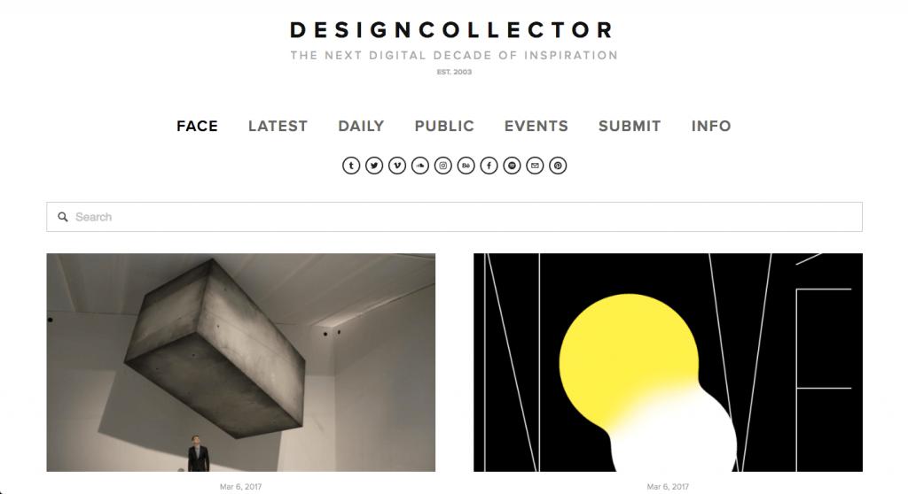 DesignCollector nous inonde de leurs références de qualité, tous domaines confondus.