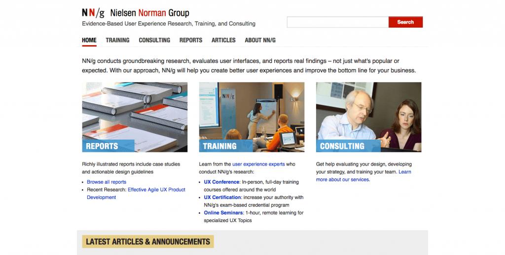 Nielsen Norman Group est à mon sens la meilleure ressource pour de l'information pertinente sur le UX.