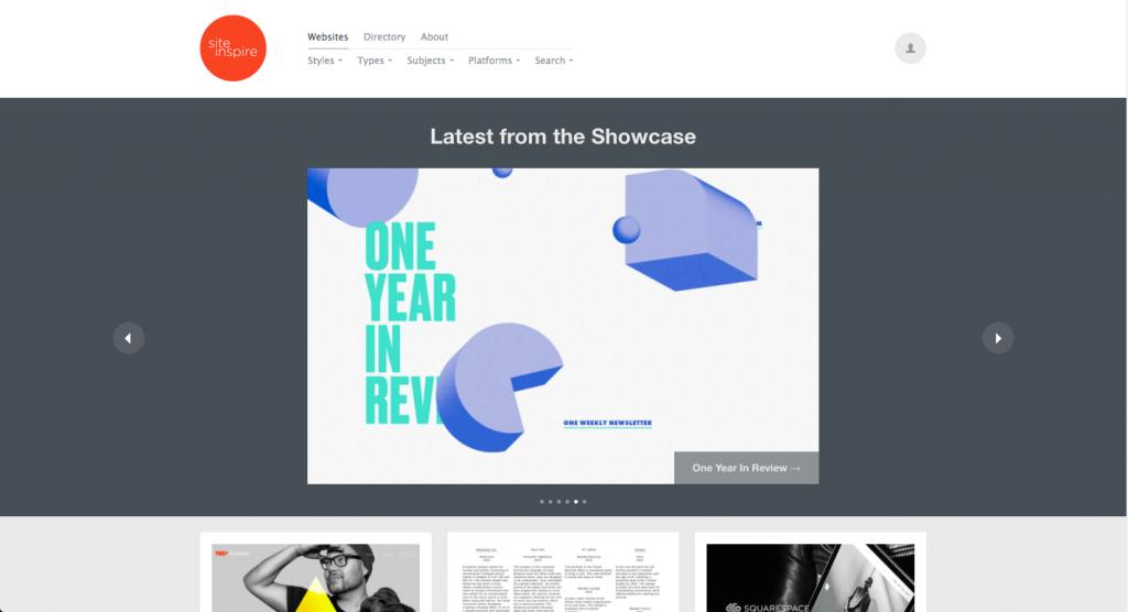 Une autre référence assez connue des designers web, SiteInspire publie seulement leurs sites préférés.