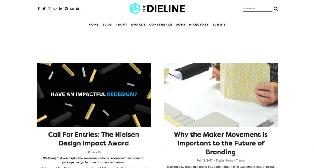 The Dieline est l'une des références en termes de design d'emballage, avec des produits de partout dans le monde.