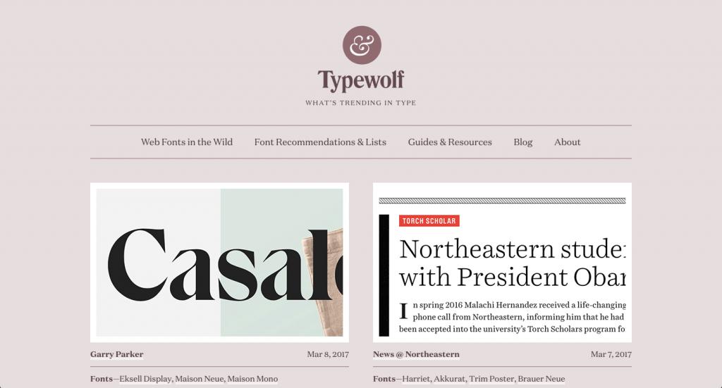 Typewolf, mon infolettre #1 côté inspiration typographique.