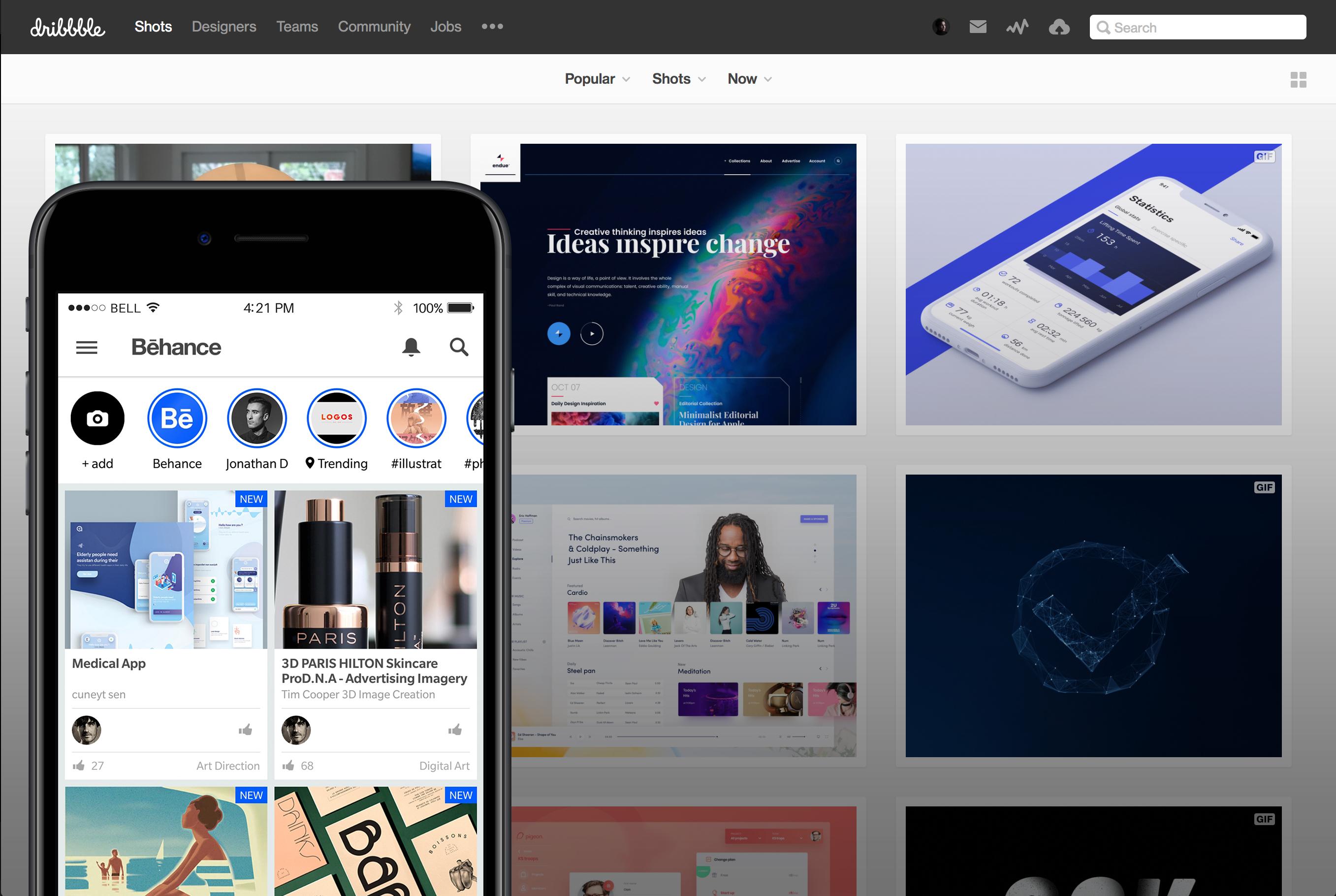 Behance et Dribbble, deux plateformes pour échanger et publier son portfolio
