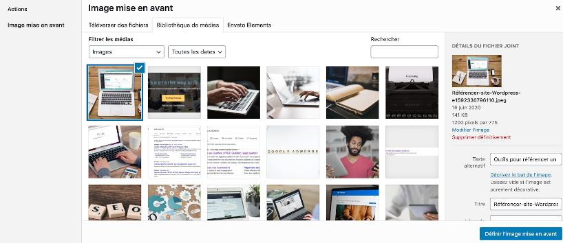 Les balises ALT des images sont une belle façon de référencer son site WordPress