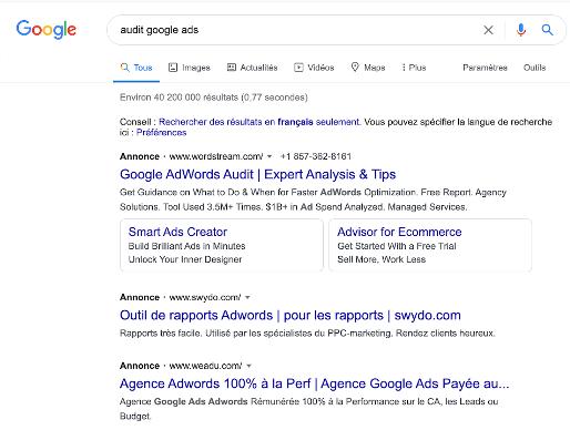 Faire de la publicité sur Google Adwords implique parfois une guerre de mots-clés.