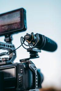 Équipement utilisé pour tourner une vidéo marketing