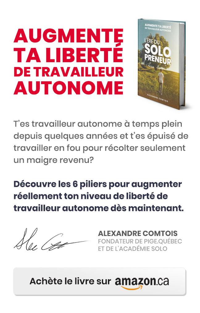 Le livre L'ère du solopreneur - Augmente ta liberté de travailleur autonome.